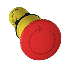 GOLPE DE PUÑO PVC C/RETENCION ROJO XB7