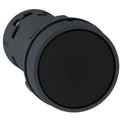 PULSADOR PLASTICO RASANTE NEGRO C/RETEN 1NA XB7