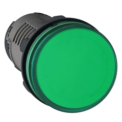 SEÑAL LUMINOSA PLASTICA LED VERDE 220VCA IP40
