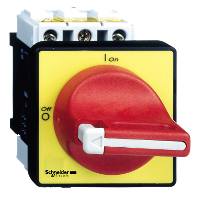 INTERRUPTOR MANUAL 3P 40A ROJO CONDENABLE