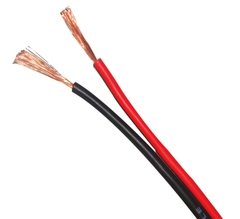 CABLE PARALELO 2X1MM P/BAFLE ROJO-NEGRO