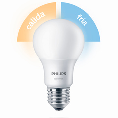 LAMPARA LED E27  9.5W/830/65 CALI/FRIO SWITCH 806L