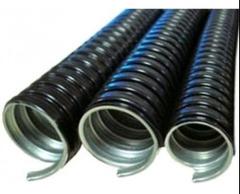 CAÑO FLEXIBLE METALICO 1/2 RE  PVC NEGRO