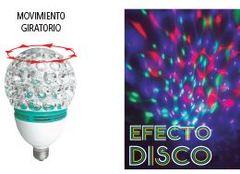 LAMPARA LED E27 3W RGB 180º GIRATIRIA