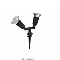 APLIQUE JARDIN 2 LAMPARAS PAR 38 100W C/JABALINA