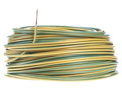 CABLE UNIPOLAR 1MM BICOLOR  X 100 MTS