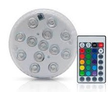 LUMINARIA LED  RGB A PILAS  C/CONTROL REMOTO