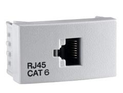 RODA TOMA COMP. P/INTERC. REDES  CAT 6 BLANCO