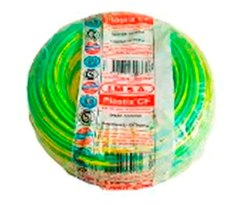 CABLE UNIPOLAR 10MM BICOLOR  X 100 MTS
