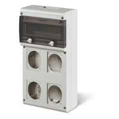 CUADRO DISTRIBUCION PVC P66 4 TOMAS + DIN