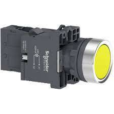PULSADOR LUM PLAST AMARILLO LED 230VCA 1NA -H. AGOTAR STOCK-
