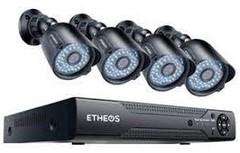 COMBO 4 CAMARAS + DVR 1TB C/FUENTES+MOUSE+CABLES   INTERCONEXION